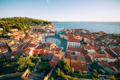 Slowenien, Halbinsel Piran, Blick ins Zentrum von Piran ©  Jacob Riglin, Beautiful Destinations www.slovenia.info