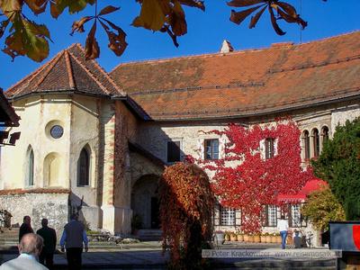 Slowenien, Herbst in der Burg von Bled