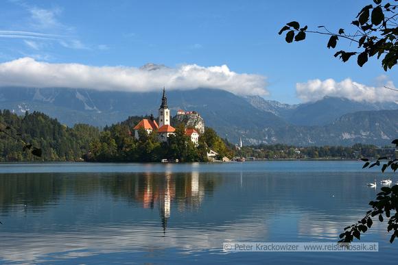 Slowenien, Bleder See mit Bleder Burg