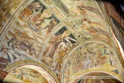 Slowenien, UNESCO-Welterbe-Kirche in Hrastovlje, Fresken an der Decke