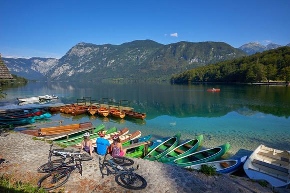 Slowenien, Freizeitmöglichkeiten am Bohinj See © Tomo Jesenicni www.slovenia.info