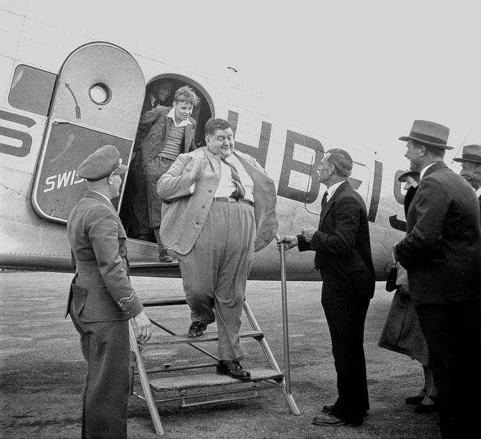 Schwergewichtige Flugpassagiere am Flugplatz Dübendorf