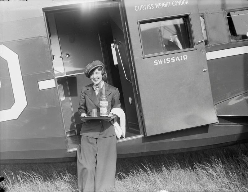 Nelly Diener, die erste Stewardess in Europa