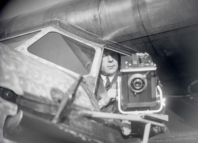 Walter Mitterholzer im Cockpit
