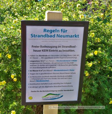 Regeln für das Strandbad Neumarkt