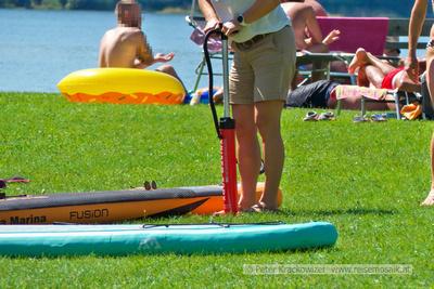 stand up paddle board Strandbad Wallersee