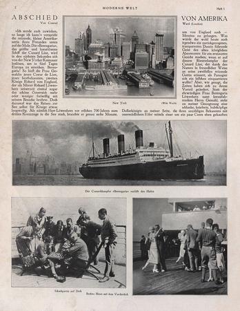 Die Beringaria 1927 auf ihrer Reise von Amerika nach Europa. Bildquelle ANNO der ÖNB.