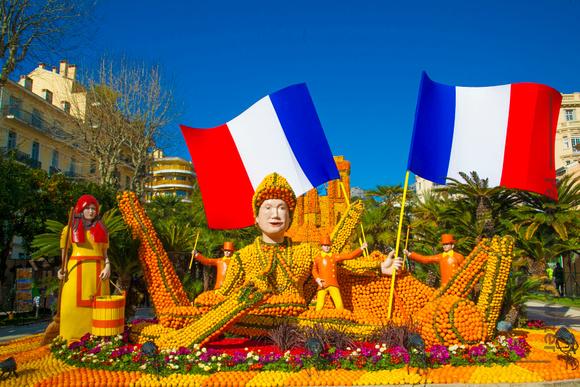 Frankreich, das Zitronenfest von Menton. Bildquelle:© Office de tourisme de Menton: www.tourisme-menton.fr