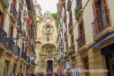 Spanien, Baskenland, San Sebastian, in der Altstadt, Basilika Santa Maria