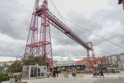 """Baskenland, die """"Bizkaia Brücke"""" (auch 'Puente Colgante' genannt)"""