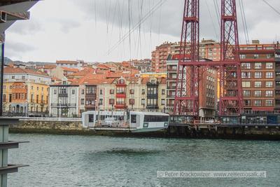 Spanien, Baskenland, Portugalete am Atlantik bei Bilbao: Puente Colgante, die hängende Fähre