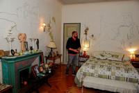 Frankreich, Hotel Welcome, Riviera Côte d'Azur, St. Jean Cap Ferrat, Villa Santo Sospir, dekoriert von Jean Cocteau, in einem der Schlafzimmer