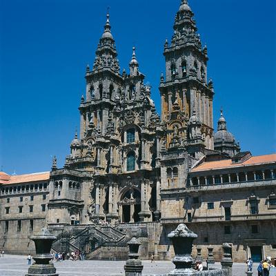 Die Kathedrale in Santiago de Compostela, am Ende des Jakobswegs © Spanisches Fremdenverkehrsamt