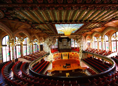 Spanien, Barcelona Konzerthaus - Palau de la Música Catalana - © 2011 Wenje, Zhang, https://www.flickr.com/photos/z_wenjie, Attribution 2.0 Generic (CC BY 2.0)