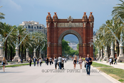 Spanien, Barcelona - Arc de Triomf - © 2011 Wenje, Zhang, https://www.flickr.com/photos/z_wenjie, Attribution 2.0 Generic (CC BY 2.0)