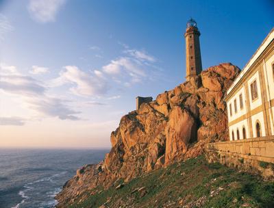 Leuchtturm Cabo Vilan in der Provinz A Coruña in Galicien © Spanisches Fremdenverkehrsamt