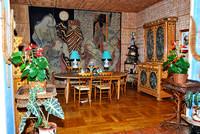 Frankreich, Riviera Côte d'Azur, St. Jean Cap Ferrat, Villa Santo Sospir, dekoriert von Jean Cocteau,  im Esszimmer