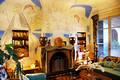 Frankreich, Menton, Riviera Côte d'Azur, Cap Ferrat, Villa Santo Sospir, die Kaminwand, die Jean Cocteau als Erstes dekorierte