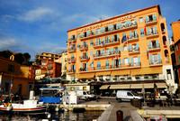 Frankreich, Hotel Welcome, Villefranche-sur-Mer, Riviera Côte d'Azur, in der Oktober-Morgensonne