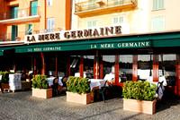Frankreich, Restaurant La Mère Germaine, Villefranche-sur-Mer, Riviera Côte d'Azur, in der Oktober-Morgensonne